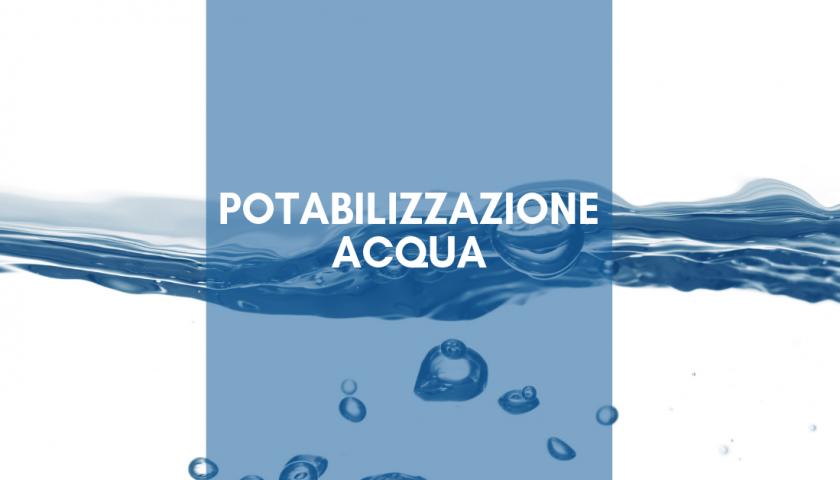 potabilizzazione dell'acqua